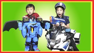 Pretend Play POLICE with Ryan's Toy Review Toy Store