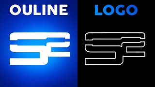 How To Turn A Logo Into an OutLine! Photoshop CS6 Soar Logo Sane Logo