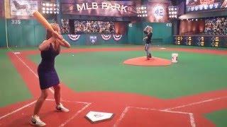 Kelly Nash Playing Whiffle Ball with Ma at MLB Network Studio 42
