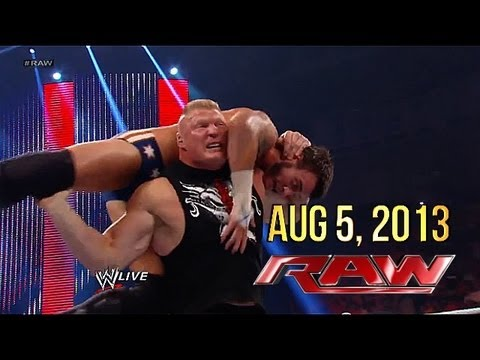 WWE RAW: 8.5.2013 - CM Punk & Brock Lesnar Fight (Review)