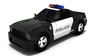 sergeant cooper the police car   Police car cartoon for children   Police helicopter cartoon
