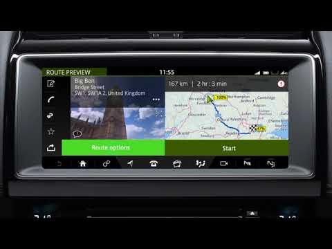 Jaguar F-PACE 19MY   InControl Touch Pro Navigation - Entering a Destination