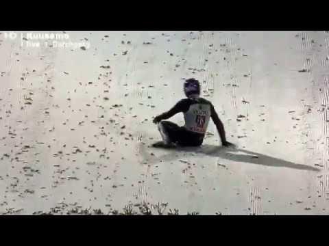Andreas Wellinger Crash Unfall Sturz Kuusamo 29.11.2014