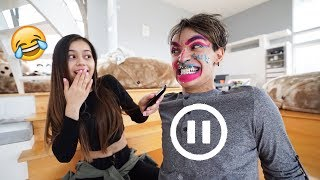 PAUSE CHALLENGE With BOYFRIEND! (crazy)