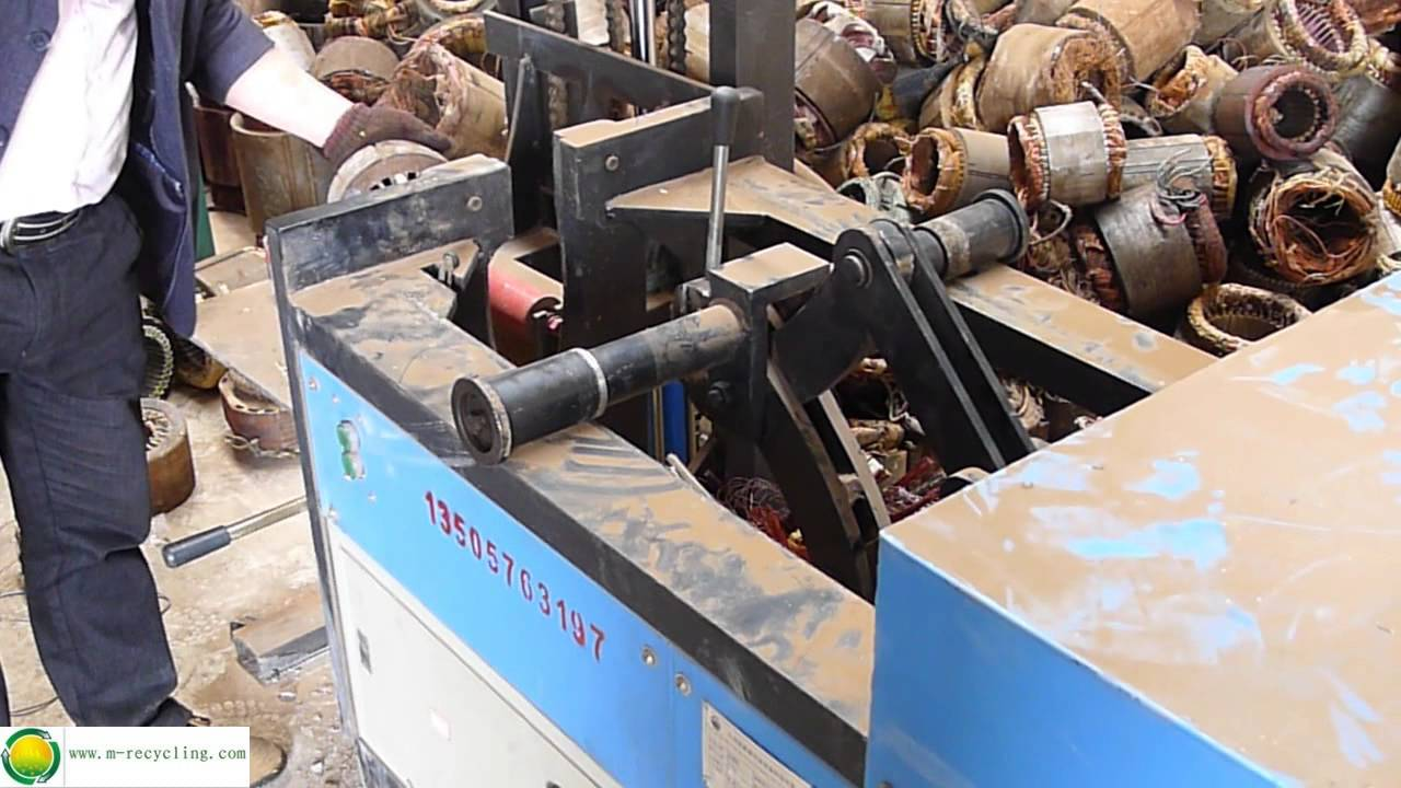 Scrapping industrial electric motor machine copper for Electric motor recycling machine
