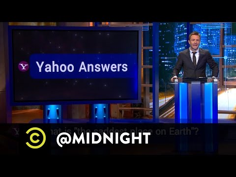 Whitney Cummings, David Koechner, Jeff Ross - Yahoo Answers - @midnight with Chris Hardwick