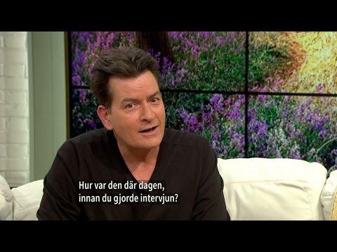 """Charlie Sheen: """"Jag är försökskanin för ny HIV-medicin"""" - textad version - Nyhetsmorgon (TV4)"""