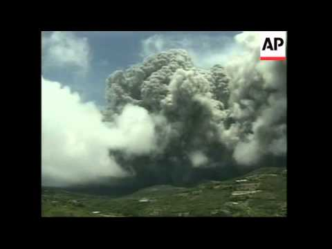 MONTSERRAT: VOLCANO ERUPTS KILLING 4 PEOPLE