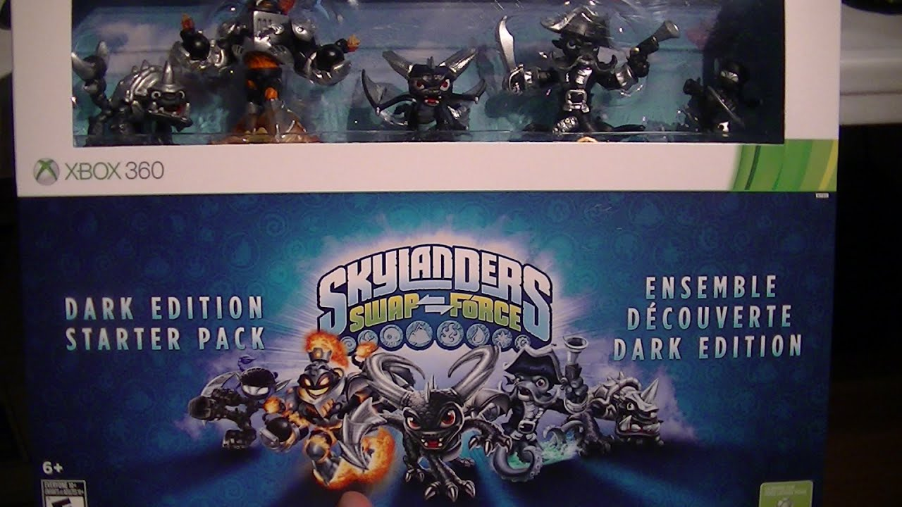 SKYLANDERS SWAP FORCE DARK EDITION UNBOXING YouTube
