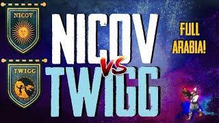 Nicov Vs Twigg 5 games  full arabia!! Los mejores de Argentina