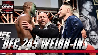 UFC 245 Ceremonial Weigh-ins | State of Combat