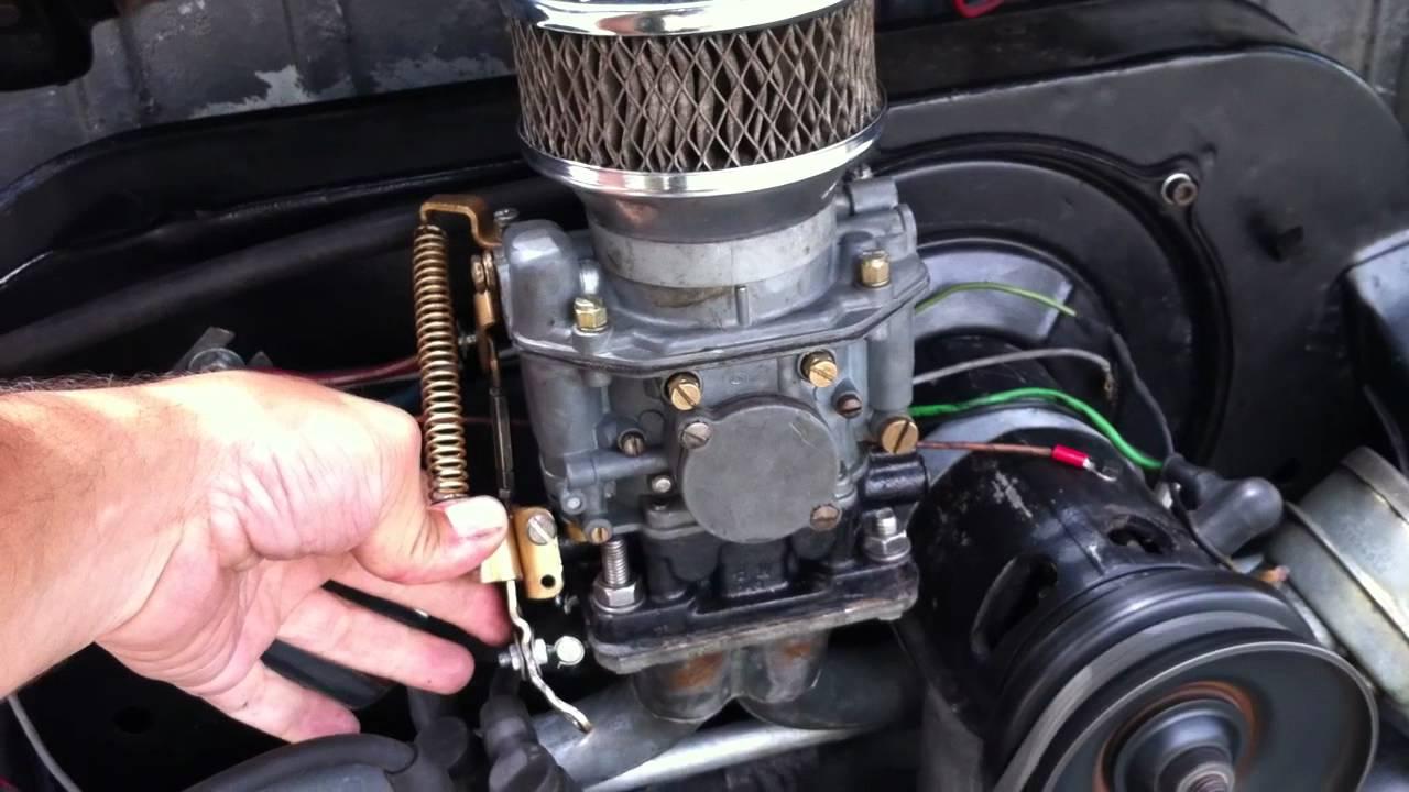 vw beetle  single port zenith ndix carburetor youtube