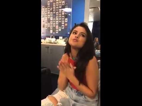 June 22, 2015 - Selena on Sirius XM Radio Snapchat #1