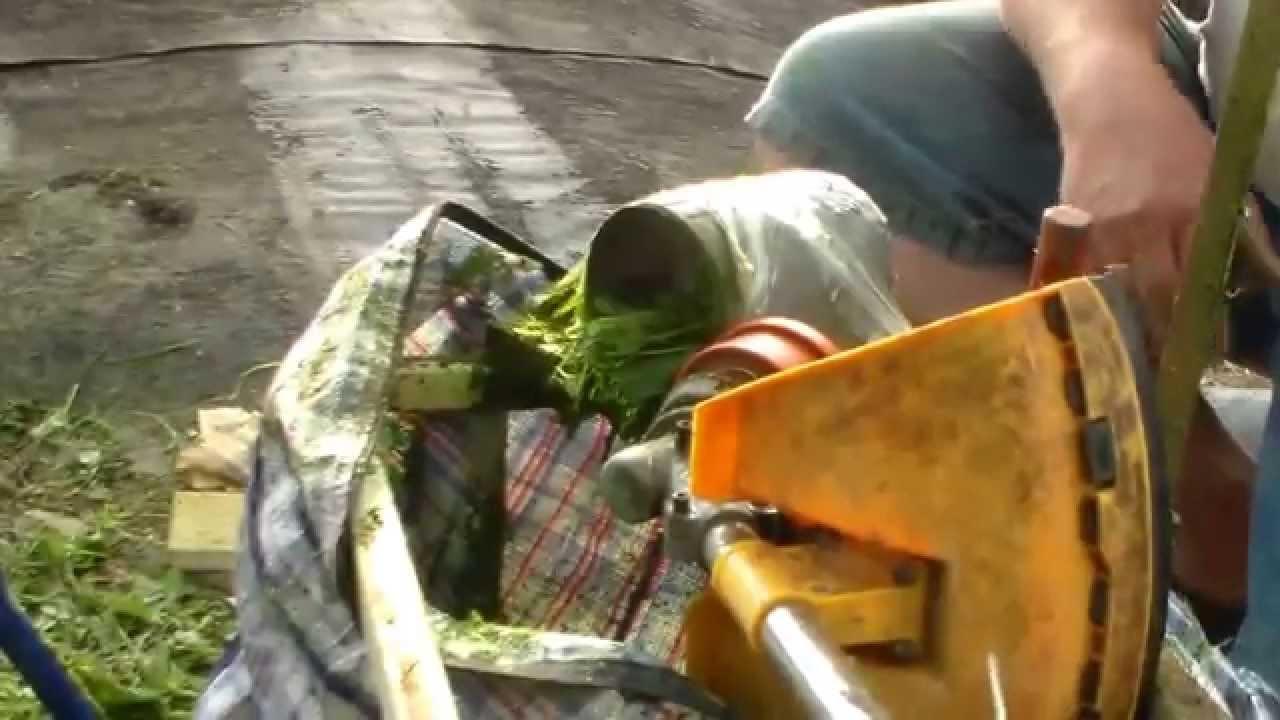 Измельчитель из газонокосилки своими руками 99