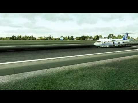 FSX Avro RJ (QualityWings) landing at Maastricht