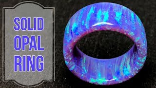 Creating a Solid Purple Bello Opal Ring GIVEAWAY