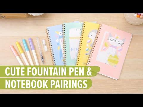 Cute Fountain Pen & Notebook Pairings