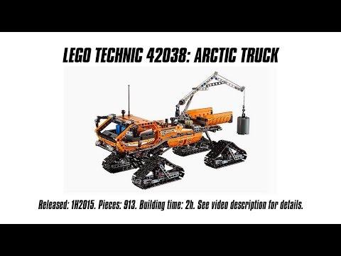 'Lego Technic 42038 Arctic Truck' Unboxing, Speed Build & Review | Sariel's LEGO Technic Den