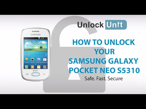 UNLOCK SAMSUNG GALAXY POCKET NEO S5310 - HOW TO UNLOCK SAMSUNG GALAXY POCKET NEO S5310