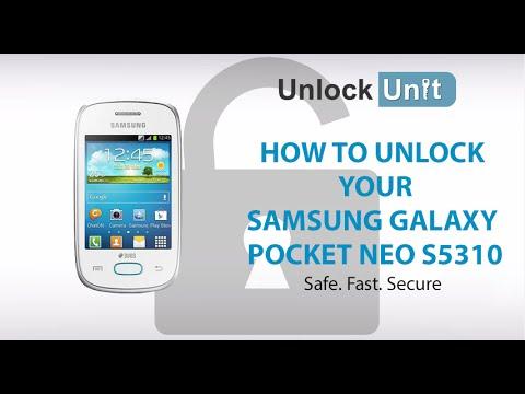 UNLOCK SAMSUNG GALAXY POCKET NEO S5310 - HOW TO UNLOCK SAMSUNG GALAXY POCKET NEO S5310