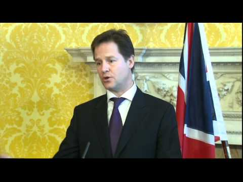 Nick Clegg condemns 'illegal Israeli settlements'
