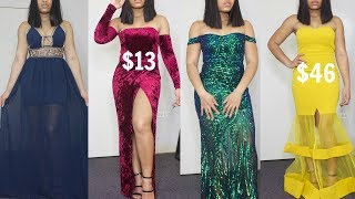 AFFORDABLE PROM DRESS LOOK BOOK | 2018| Fashion Nova & more