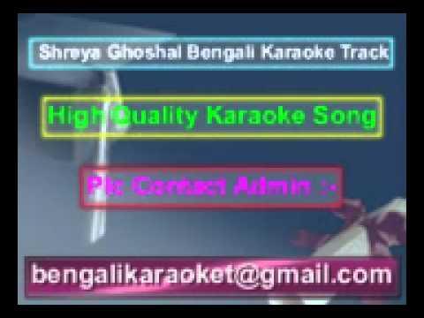 Projapoti E Mon Meluk Pakhna Karaoke Shreya Ghoshal