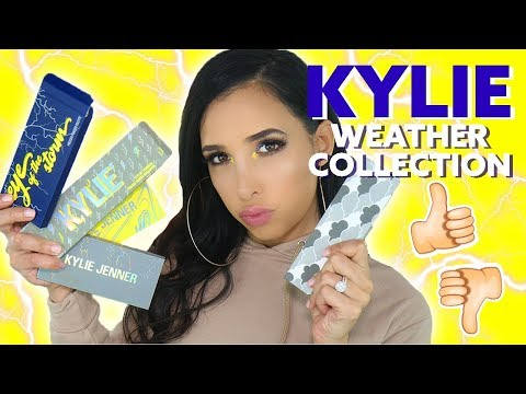 NEW KYLIE COSMETICS WEATHER COLLECTION - REVIEW + TEST + TUTORIAL (Stormi Collection) | Mar