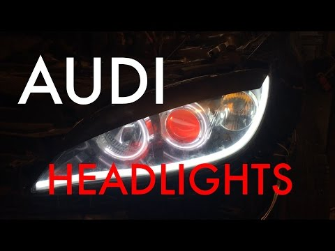 [How-To] Diy~ AUDI/BMW Headlights LED Tube Lights (Mazda 3) [HD]