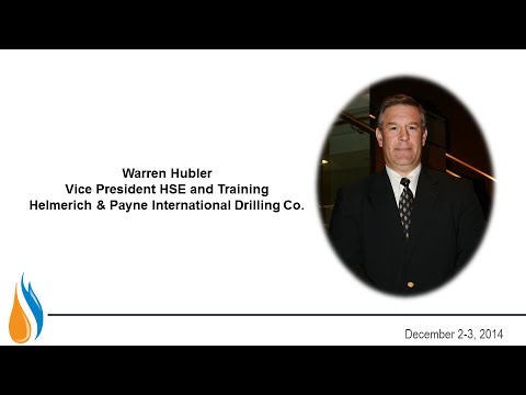 Warren Hubler, Vice President HSE and Training, Helmerich & Payne International Drilling Co.