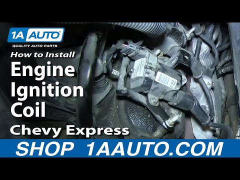 How To Install Replace Engine Ignition Coil Chevy Express GMC Savana 5.3L 6.0L