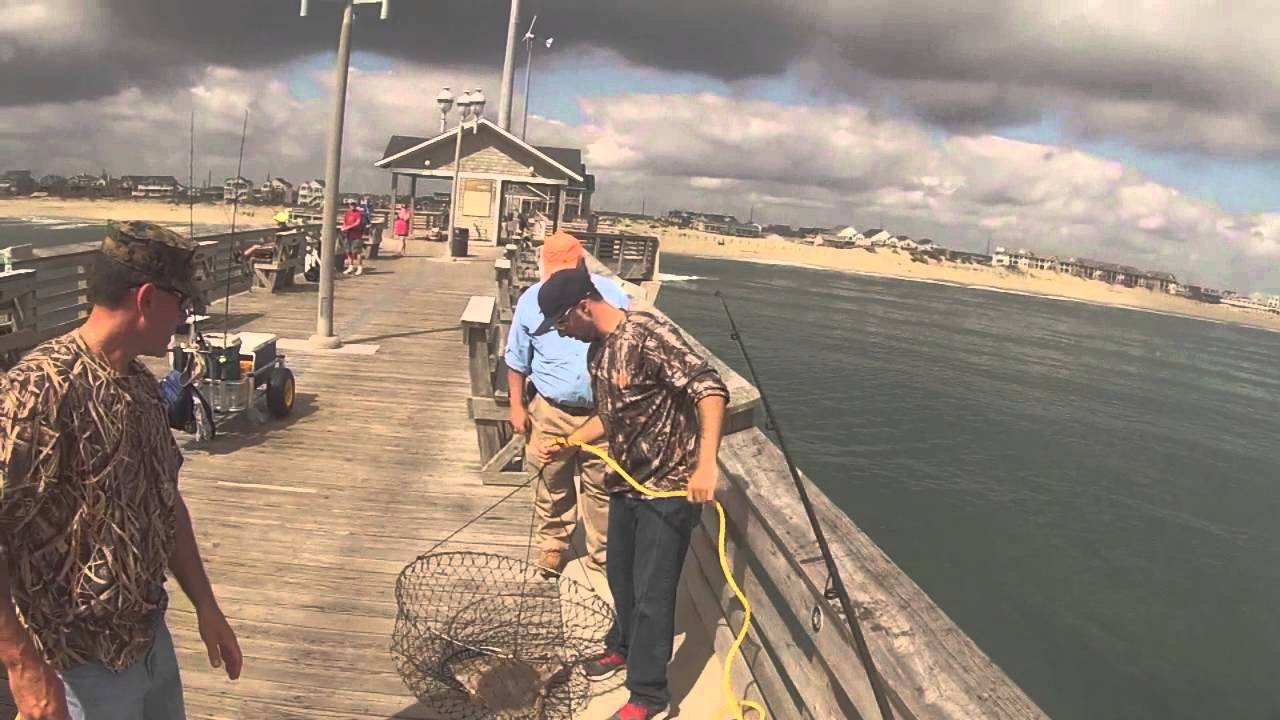 Jennette s pier fishing Go Pro  Three skate one line Nags Head  Outer Banks