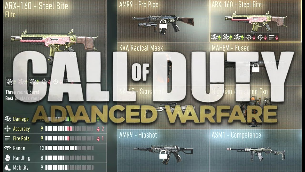 Call of duty advanced warfare elite weapons amp my combat record