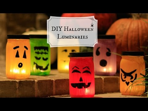 DIY Mason Jar Luminaries | Halloween Craft Ideas