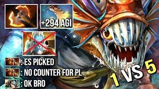 1v5 Battle Fury Slark vs Phantom Cancer +294 Agi Epic Gameplay by ChuaN Dota 2