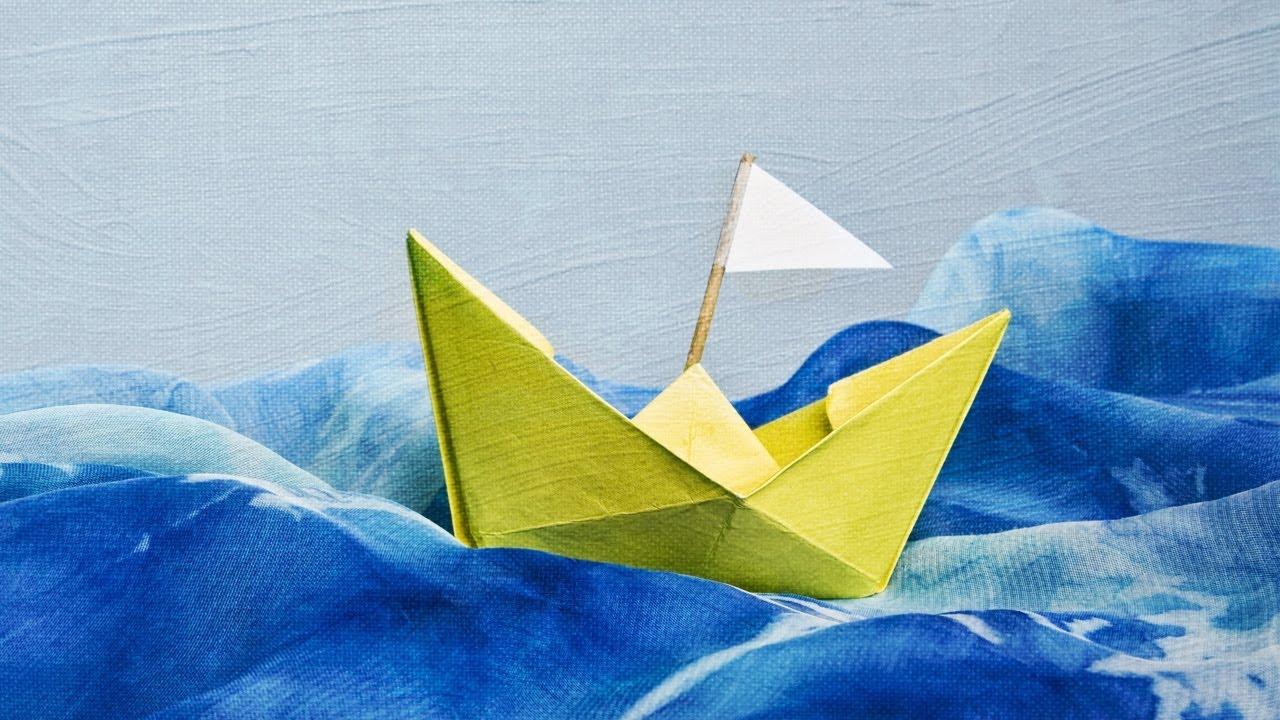 Como hacer un barco de papel paso a paso youtube - Papiroflexia paso a paso ...