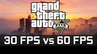 (60fps) GTA 5 - 30fps vs 60fps Comparison