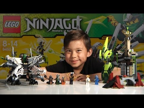 Epic Dragon Battle - Lego Ninjago Set 9450 - Unboxing, Review & Time-lapse Build video