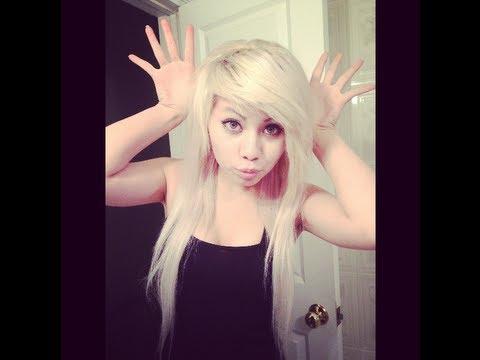 diy how i bleach all my hair platinum blonde youtube