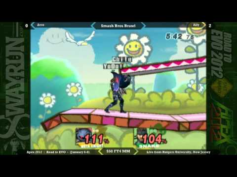 Apex 2012 - $50 Moneymatch: vVv Zero (Meta Knight) vs. Ally (Snake)