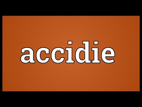 Header of accidie