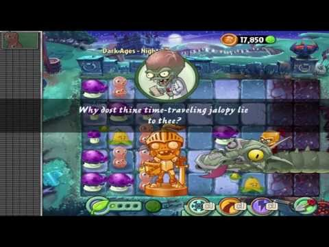 Plants vs Zombies 2: Dark Ages - Night 20 - Final Boss Fight