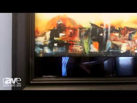 CEDIA 2015: Vision Art Galleries Features Motorized Custom Frames to Disguise TV Screens