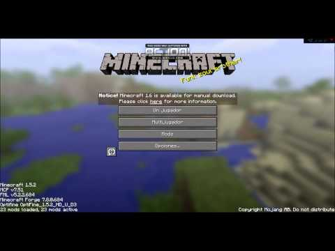 Pack de 23 mods de minecraft 1.5.2