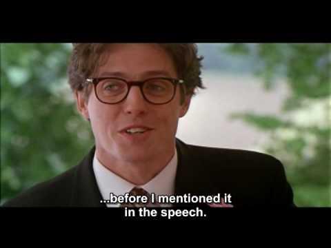 Best Man Speech Four Weddings And A Funeral Youtube