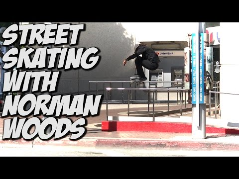 STREET SKATING WITH NORMAN WOODS !!! - A DAY WITH NKA -