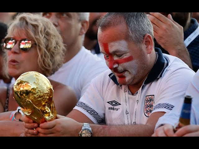 England fans 'heartbroken' as World Cup dream is over