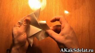 Как из бумаги сделать рыбку
