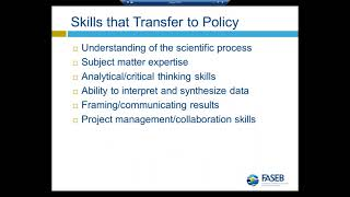 FASEB Webinar: Introduction to Science Policy Fellowships