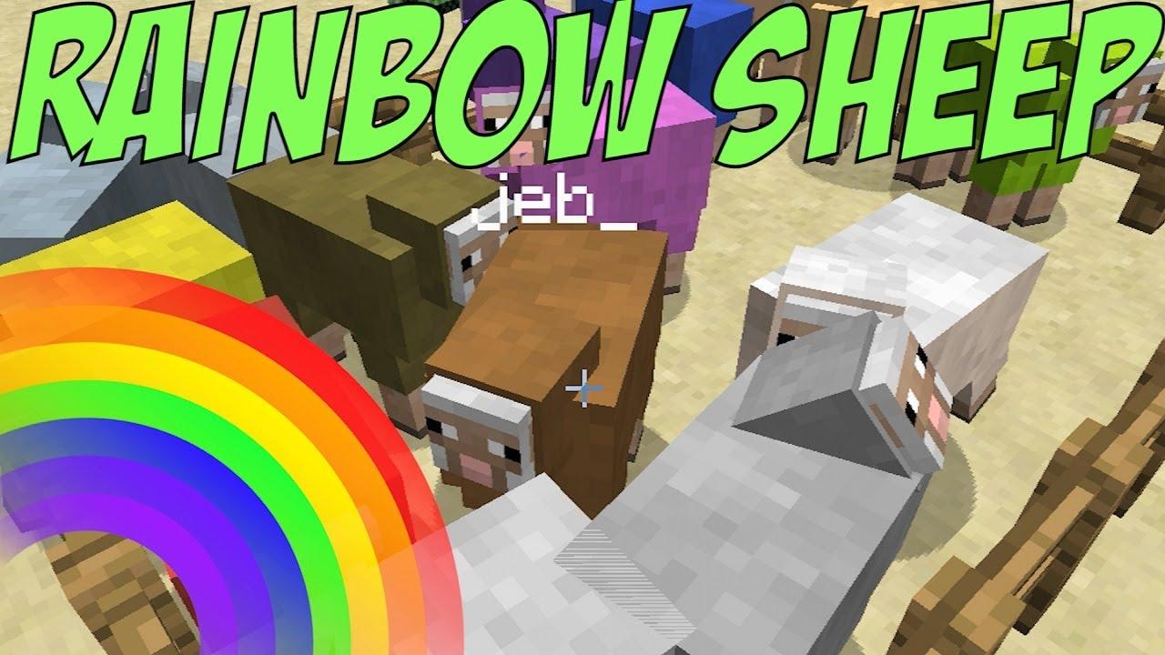 Minecraft 173 Rainbow Sheep YouTube